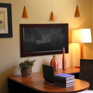 American Made Rayne Dark Walnut Blackboard/Chalkboard