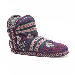 Muk Luks Women's Amira Pattern Bootie Slippers