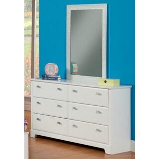 Sandberg Furniture Hailey White 6-drawer Dresser and Mirror