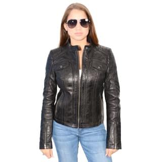 Women's Lambskin Leather Scuba Collar Jacket|https://ak1.ostkcdn.com/images/products/10621589/P17691725.jpg?impolicy=medium