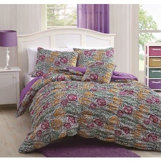 Mandy Peace/Animal 4-piece Comforter Set