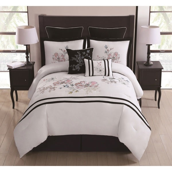 Morning Bloom 8-piece Embroidered Comforter Set