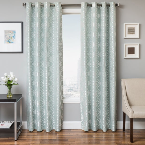 Softline Paxton Geometric Grommet Top Curtain Panel Free