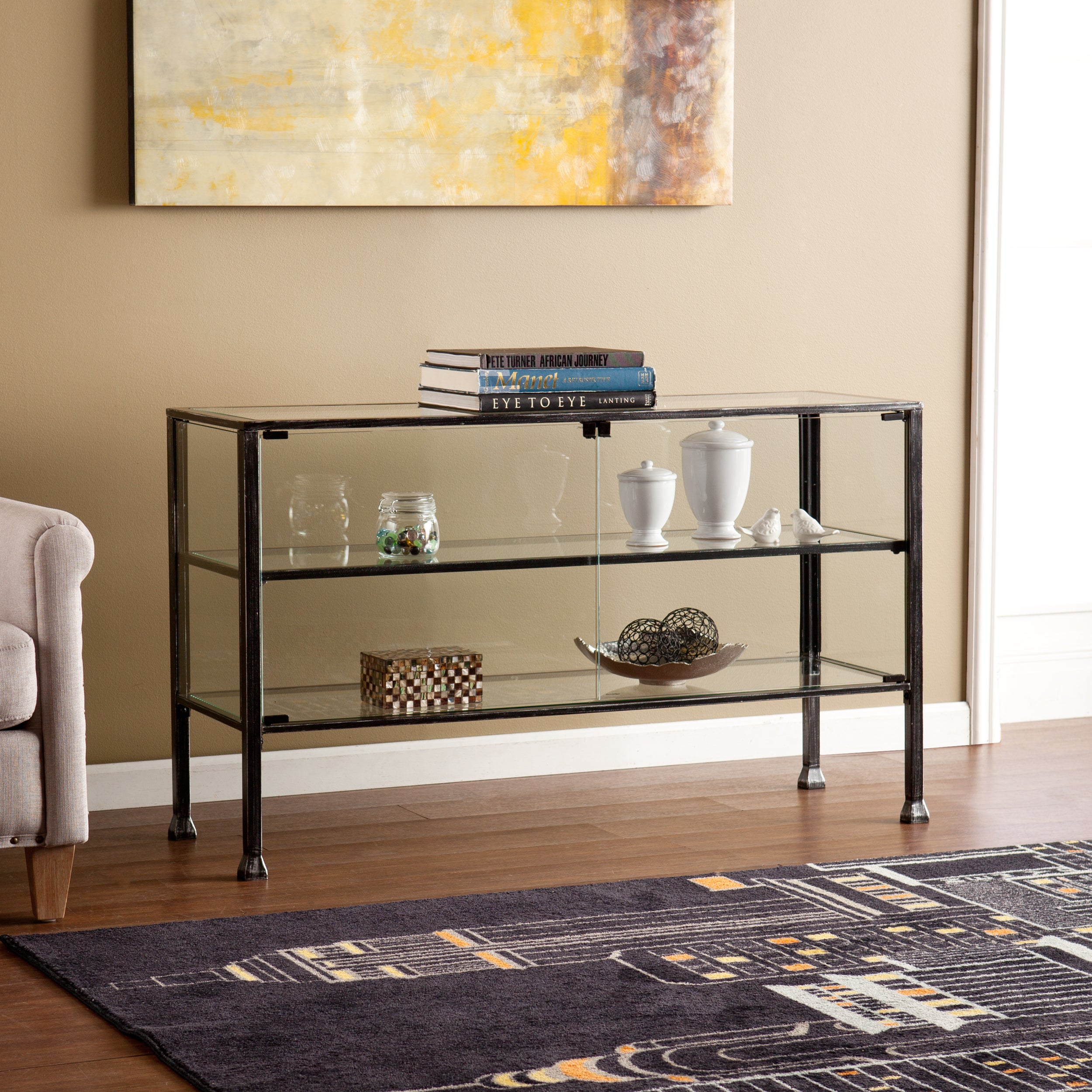 Harper Blvd Terrarium Display Curio/Sofa/ Console Table (...