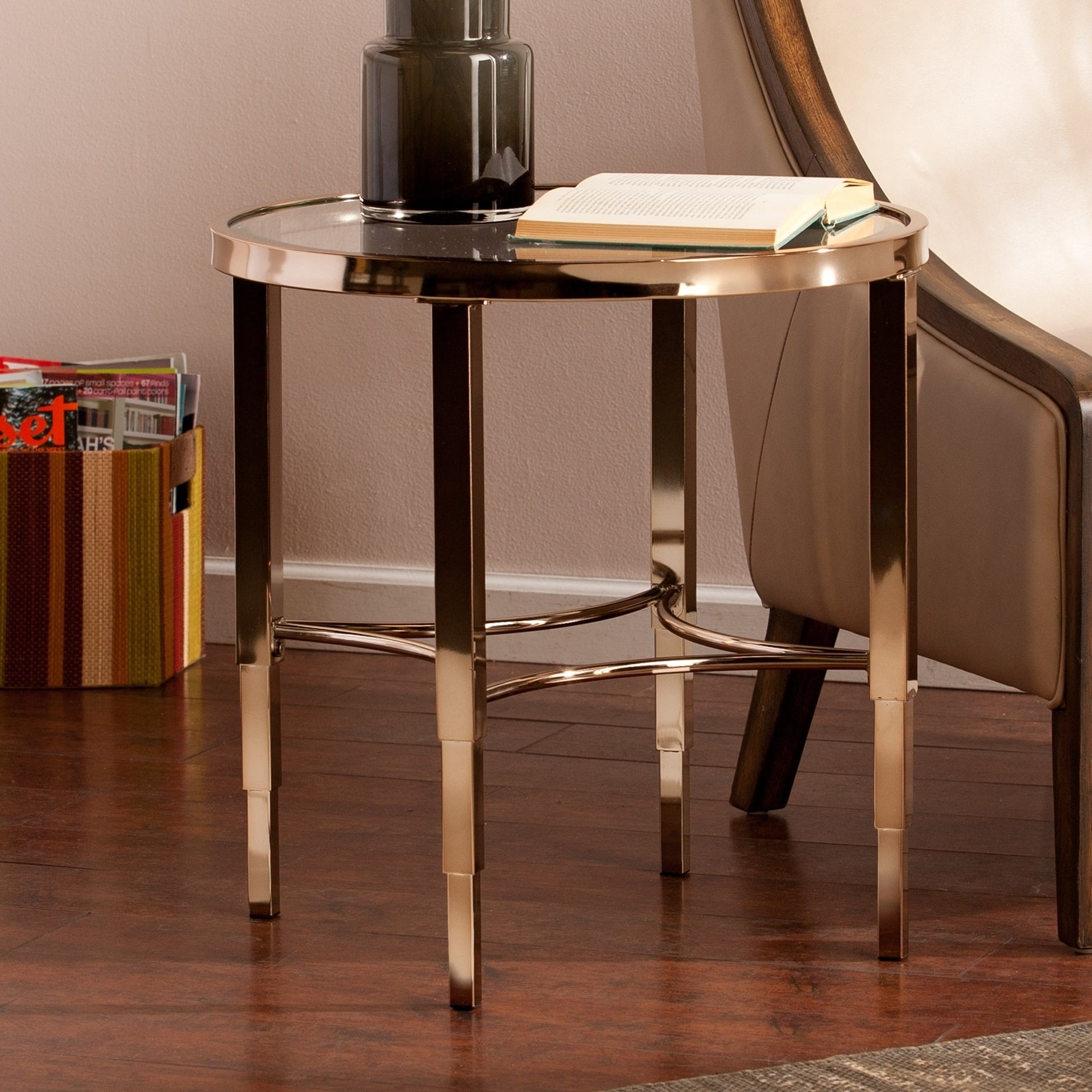 Shop Silver Orchid Grant Glam Side End Table Free Shipping On