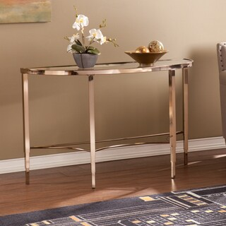 Silver Orchid Grant Glam Console Table