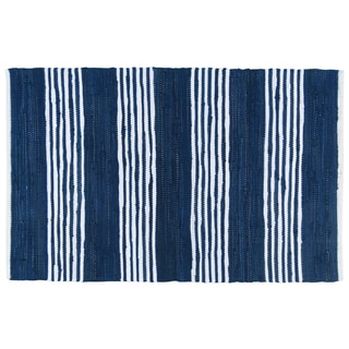 Chindi Area Rug – Blue Stripe 2' X 3'