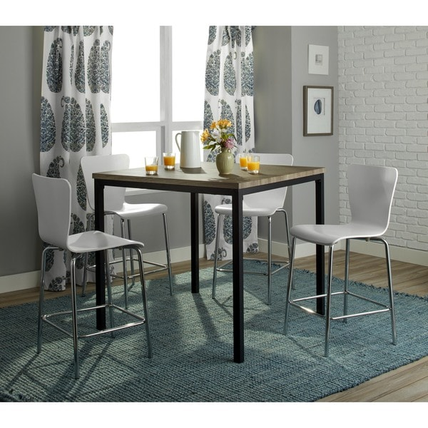 Simple living 5 piece modena counter height set free for Kitchen set modena