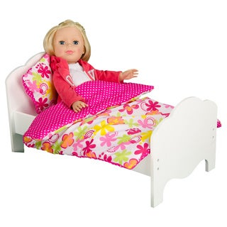 Olivia's Little World Little Princess 18-inch Doll Summer Flowers Bedding