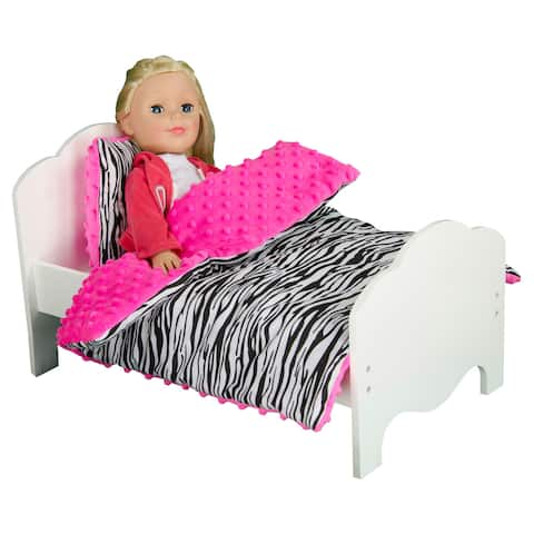 Olivia's Little World Little Princess 18-inch Doll Zebra Print Bedding