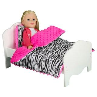 Olivia's Little World Little Princess 18-inch Doll Zebra Print Bedding
