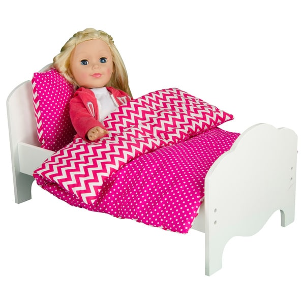 Olivia's Little World Little Princess 18-inch Doll Modern Chevron Bedding