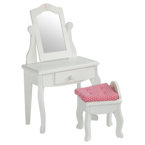 Olivia's Little World Little Princess 18-inch Doll Vanity Table and Stool Set