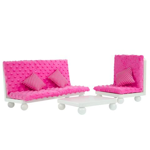 Olivia's Little World Little Princess 18-inch Doll Pink Lounge Set