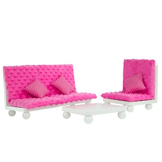 Olivia's Little World Little Princess 18-inch Doll Pink Lounge Set