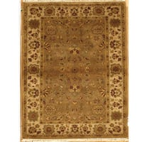 Handmade Essex Brown Wool Runner Rug (India)