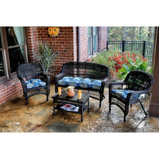 Tortuga Outdoor 4-piece Portside Seating Set with Dark Roast Wicker
