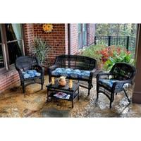 Copper Grove Lagunas Outdoor 4-piece Seating Set with Dark Roast Wicker