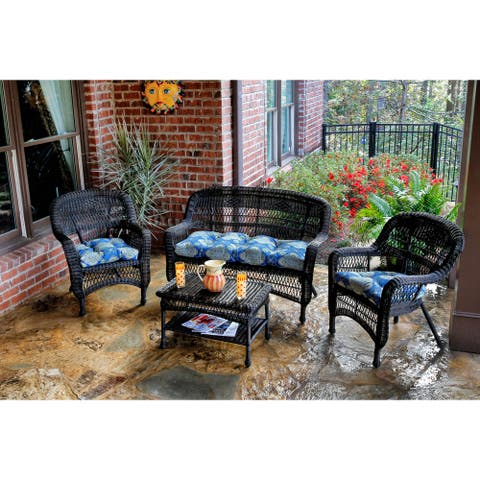 Lincolnville Outdoor 4-piece Seating Set with Dark Roast Wicker by Havenside Home
