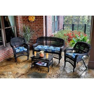 Tortuga Outdoor 4-piece Portside Seating Set with Dark Roast Wicker