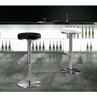 Fano Stainless Steel Eco-leather Adjustable Round Barstool