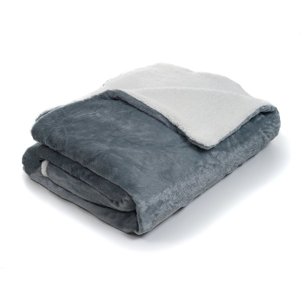 Fleece Blanket with Sherpa Backing (Full/Queen)