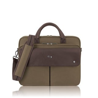 Solo Executive Khaki 15.6-inch Laptop and Tablet Briefcase