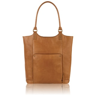 Solo Executive Tan Vinyl 15.6-inch Laptop Bucket Tote