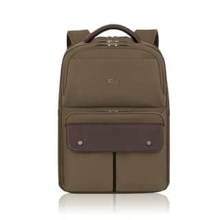 Solo Executive Khaki 15.6-inch Laptop Backpack (Option: Khaki)|https://ak1.ostkcdn.com/images/products/10621805/P17691920.jpg?impolicy=medium