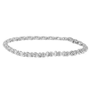 Sterling Silver 1/4ct TDW Round Diamond Bracelet (H-I, I2-I3)