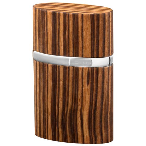 Brizard & Co Zebrawood Lotus Table Lighter