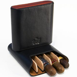 Brizard & Co Sunrise Black and Padauk 5 Cigar Case