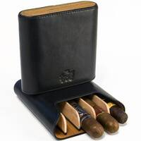 Brizard & Co Sunrise Black and Zebrawood 5 Cigar Case