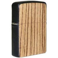 Zippo ZPlus Double Torch Flame Cigar Lighter with Handcrafted Zebrawood Finish by Brizard & Co.