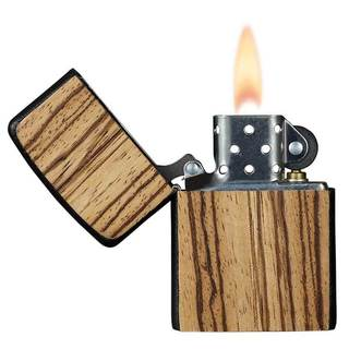 Zippo Lighter with Handcrafted Zebrawood Finish by Brizard & Co.