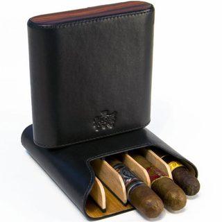 Brizard & Co Sunrise Black and Rosewood 5 Cigar Case