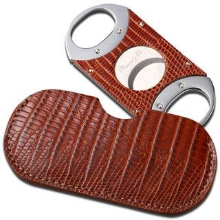 Brizard & Co Lizard Havana Leather Cigar Cutter