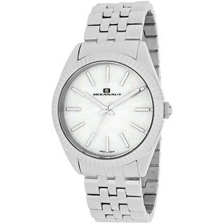 Oceanaut Women's OC7210 Chique Round Silvertone Stainless Steel Bracelet Watch