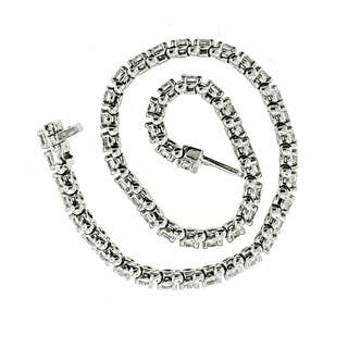 14k White Gold 4ct TDW Diamond Tennis Bracelet By Life More Dazzling|https://ak1.ostkcdn.com/images/products/10622032/P17692121.jpg?impolicy=medium