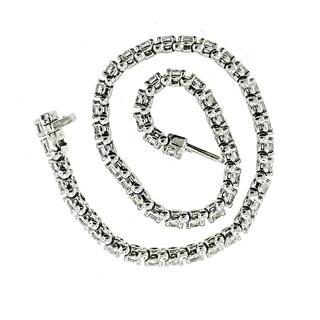 14k White Gold 4ct TDW Diamond Tennis Bracelet By Life More Dazzling