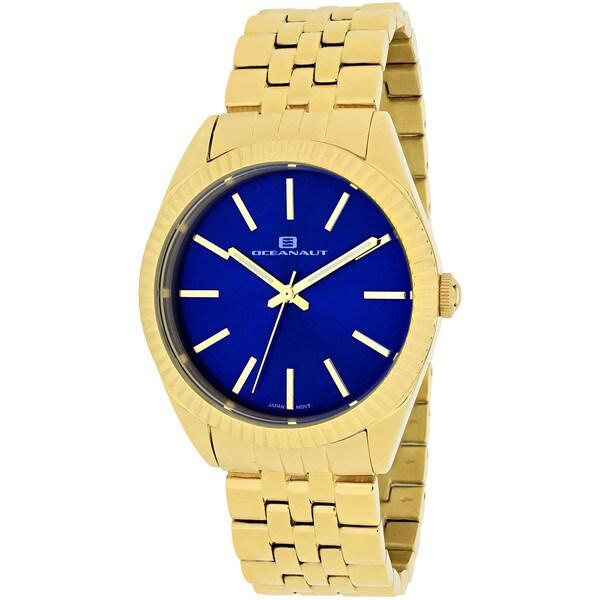 Oceanaut Women's OC7411 Chique Round Goldtone Stainless Steel Bracelet Watch