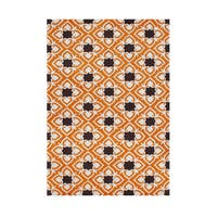 Alliyah Handmade Coca Brown New Zealand Blend Wool Rug (5' x 8') - 5' x 8'