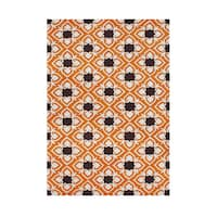 Alliyah Handmade Coca Brown New Zealand Blend Wool Rug (5' x 8') - 5' x 8'