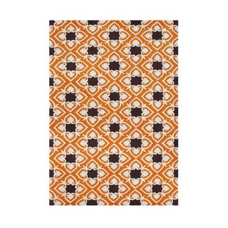 Alliyah Handmade Coral Rose New Zealand Blend Wool Rug (8' x 10')