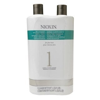 Nioxin System 1 Cleanser Liter and Scalp Therapy Liter Duo