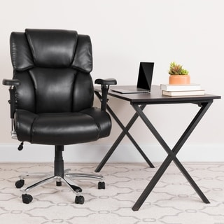 24/7 Intensive Use Big & Tall 400 lb. Rated High Back Black LeatherSoft Chair