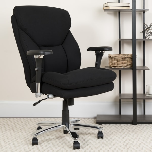 24/7 Intensive Use Big & Tall 400 lb. Rated High Back Black Fabric Chair