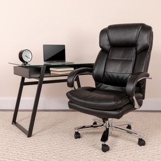 Hercules Series 24/7 Intensive Use Multi-shift, Big and Tall 500-pound Capacity Leather Executive Sw