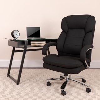 24/7 Intensive Use Big & Tall 500 lb. Rated Black Fabric Ergonomic Office Chair