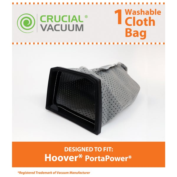 Replacement Cloth Bag, Fits Hoover PortaPower, Washable & Reusable, Compatible with Part 43662023